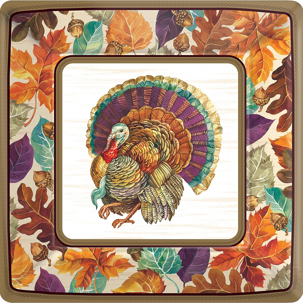 Traditional Thanksgiving Tableware Kit for 16 Guests Image #9