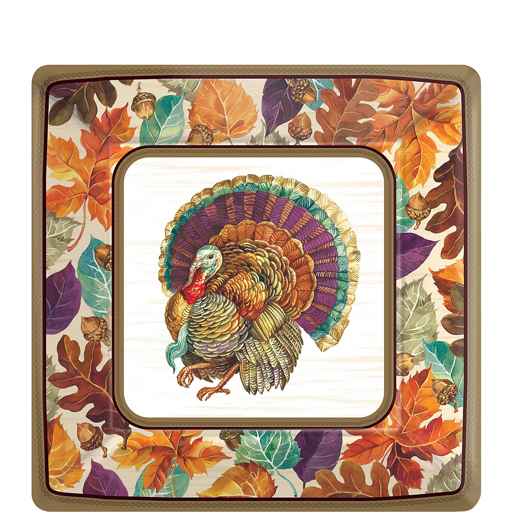 Traditional Thanksgiving Tableware Kit for 16 Guests Image #10