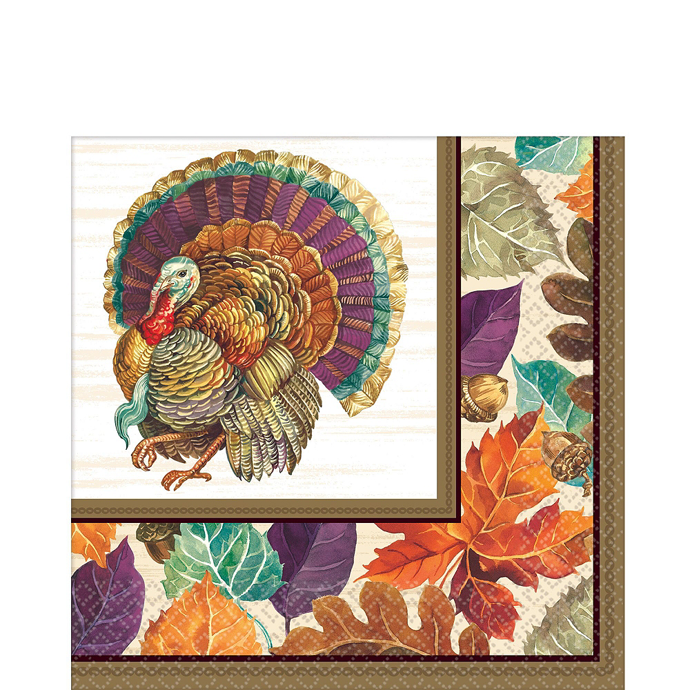 Traditional Thanksgiving Tableware Kit for 32 Guests Image #3