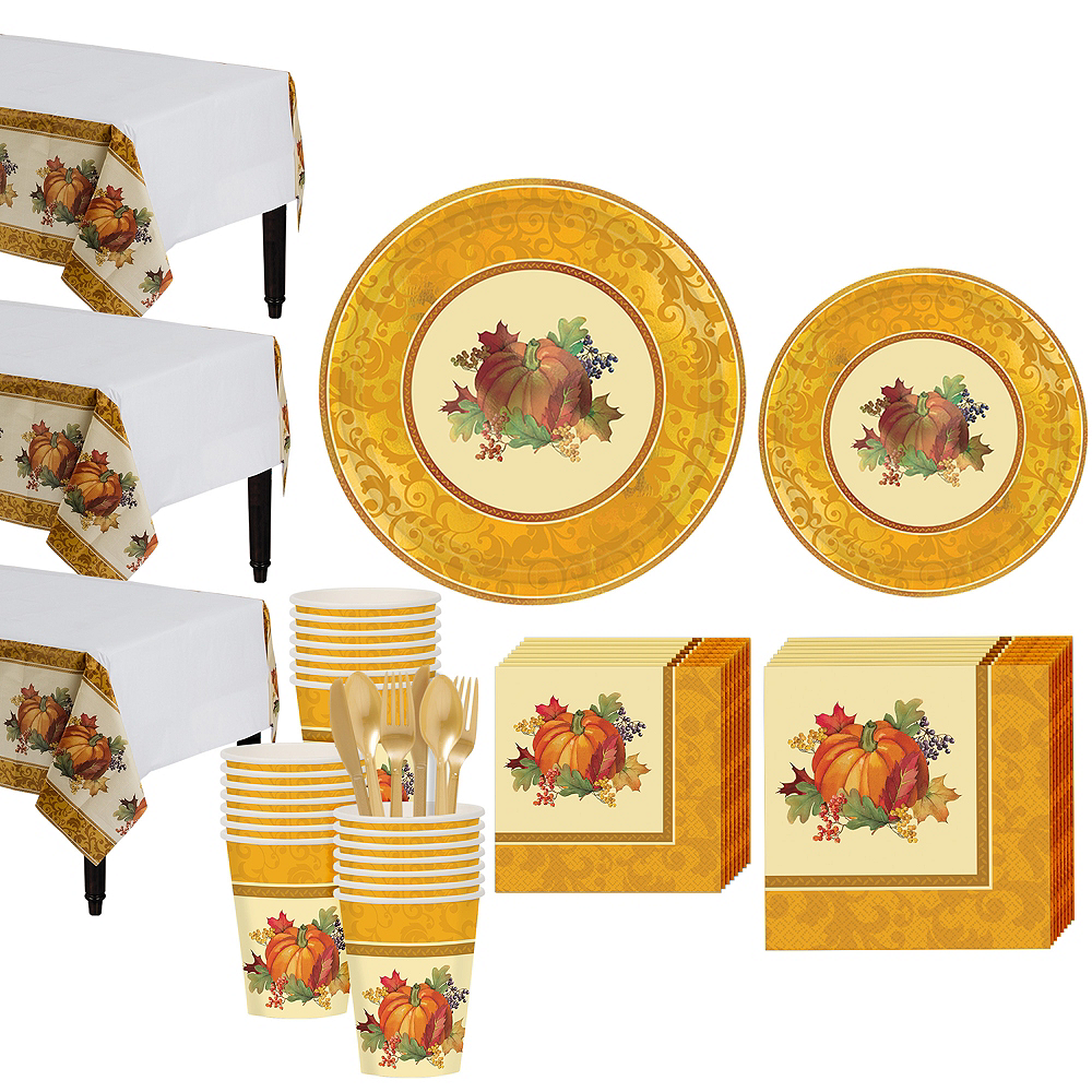 Bountiful Holiday Tableware Kit for 32 Guests Image #1