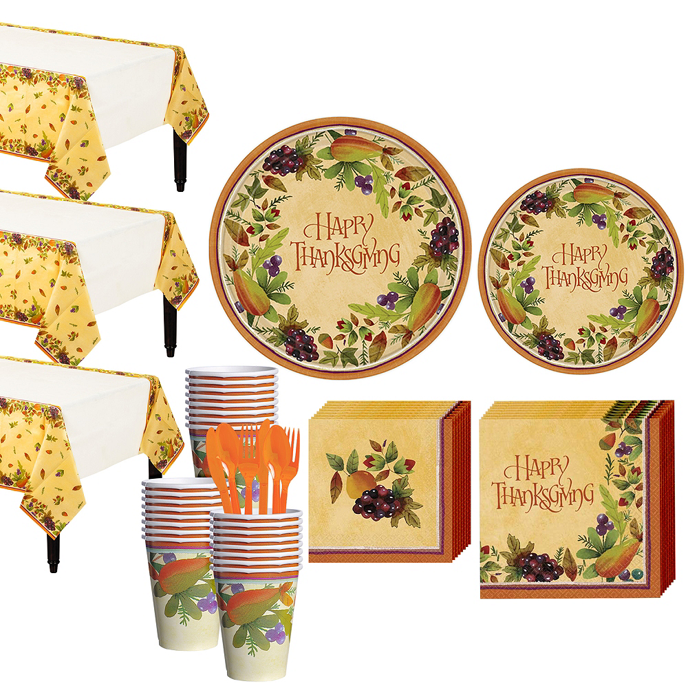 Thanksgiving Medley Tableware Kit for 32 Guests Image #1