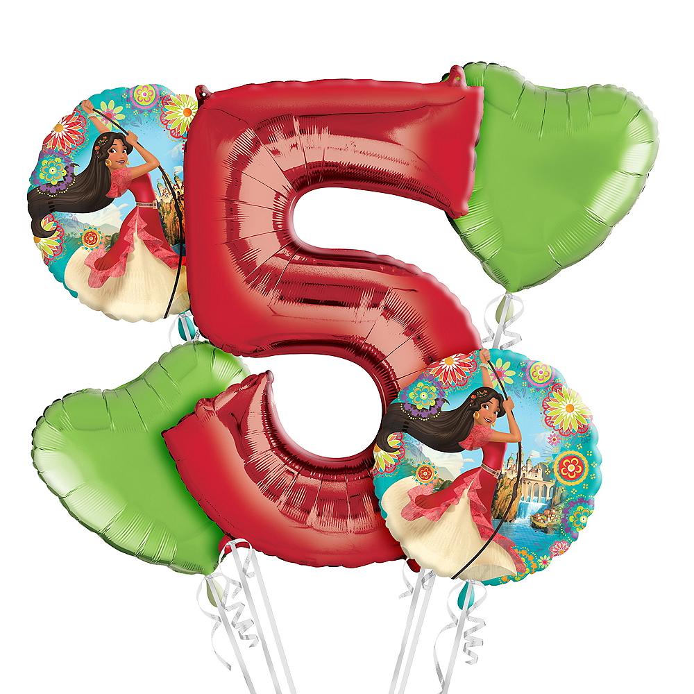 Elena of Avalor 5th Birthday Balloon Bouquet 5pc Image #1