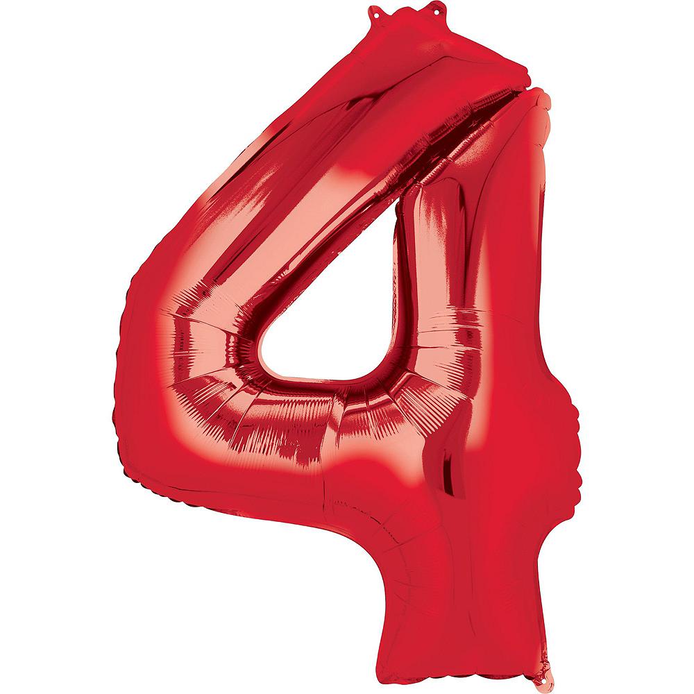PJ Masks 4th Birthday Balloon Bouquet 5pc Image #3