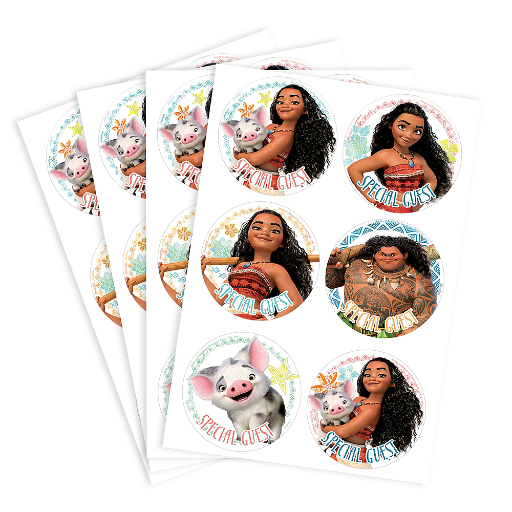 Moana Stickers 4 Sheets Image #1