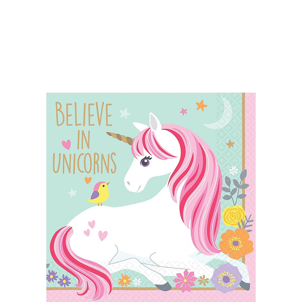Magical Unicorn Beverage Napkins 16ct Image #1