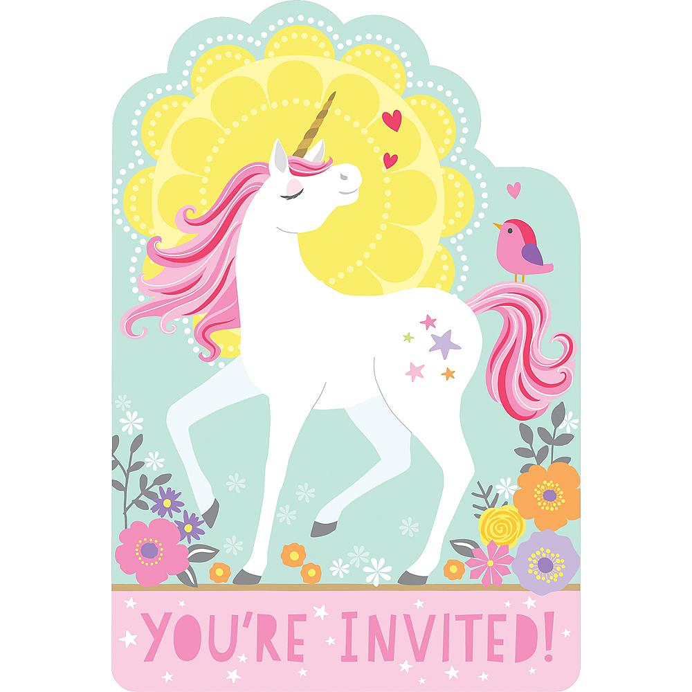 Magical Unicorn Invitations 8ct Image 1