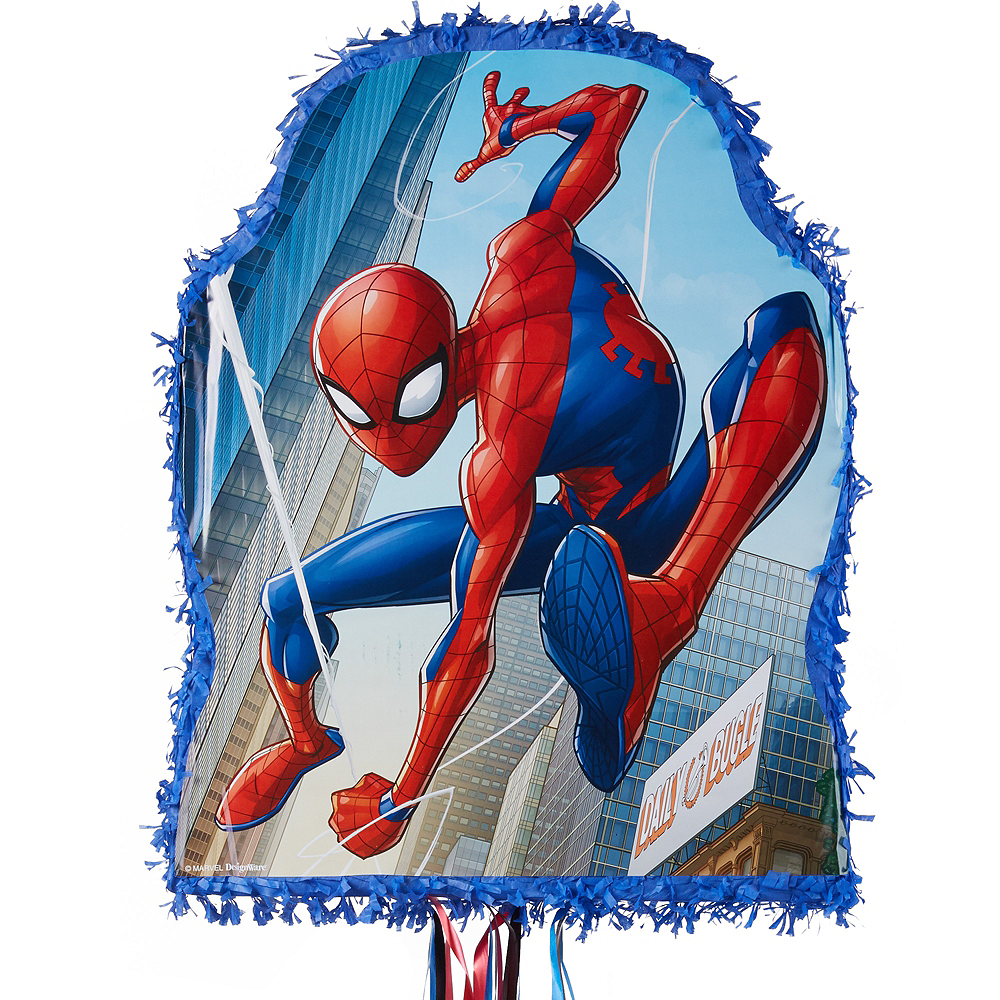 Nav Item for Pull String Blue Spider-Man Pinata Image #1