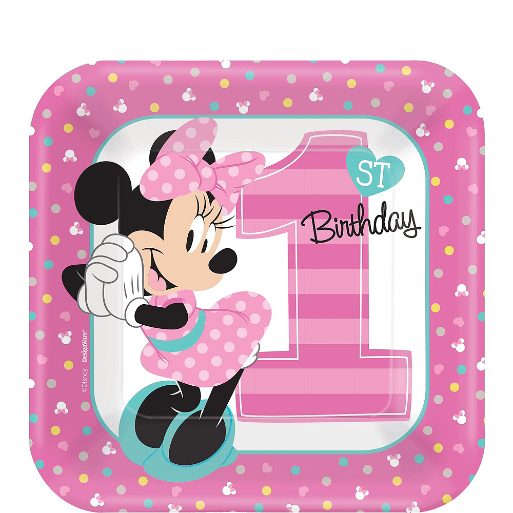 1st Birthday Minnie Mouse Deluxe Party Kit for 32 Guests Image #2