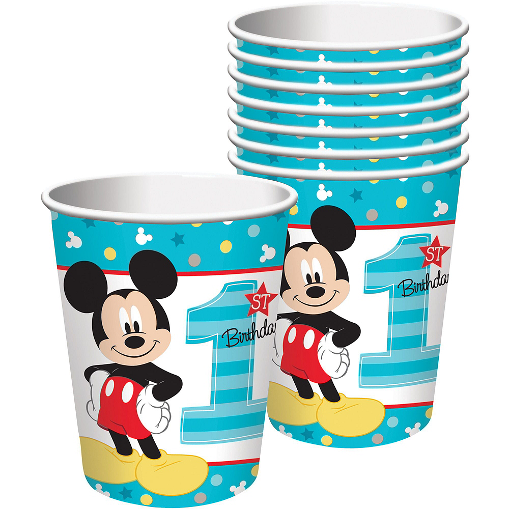 1st Birthday Mickey Mouse Deluxe Party Kit for 32 Guests Image #6