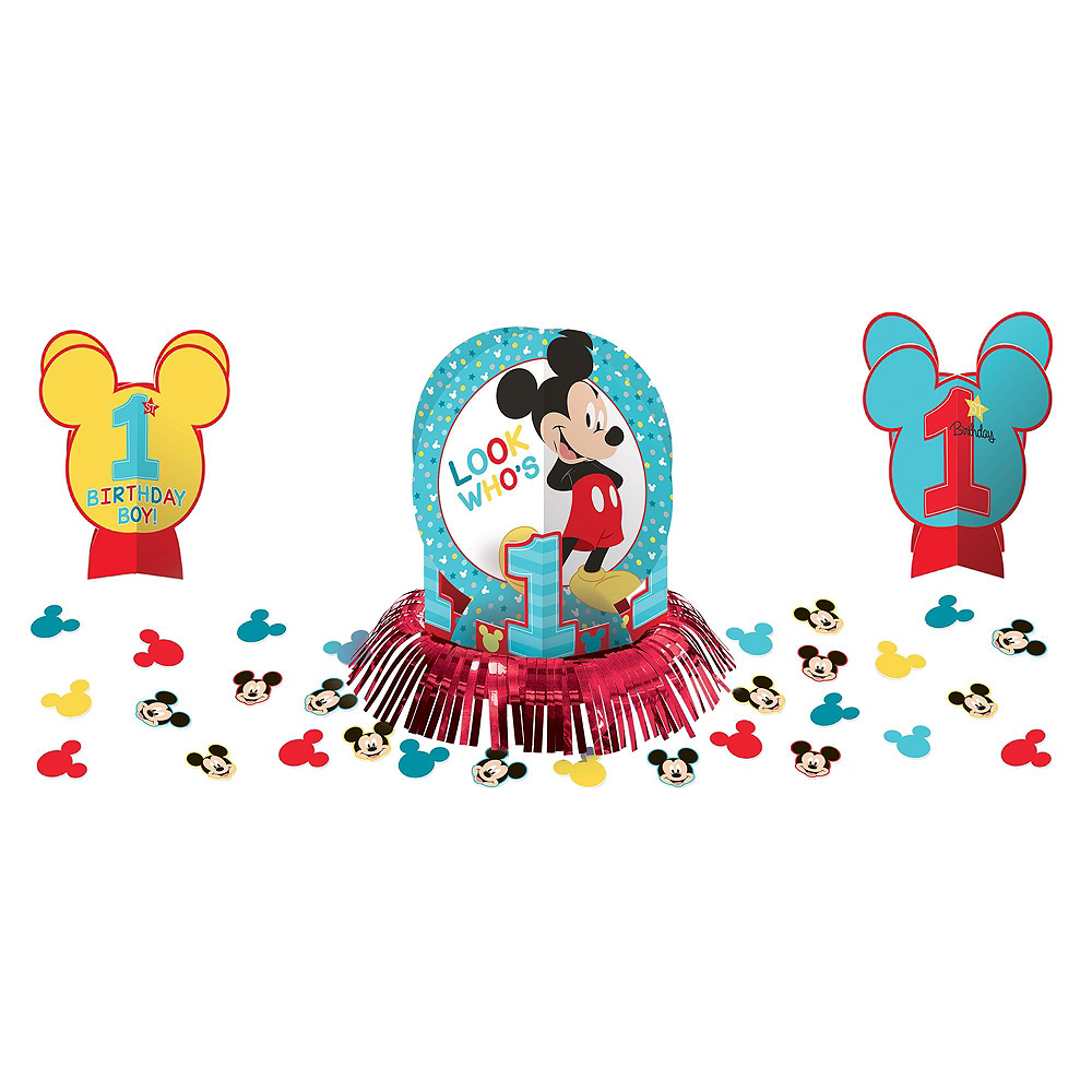 1st Birthday Mickey Mouse Deluxe Party Kit for 32 Guests Image #11