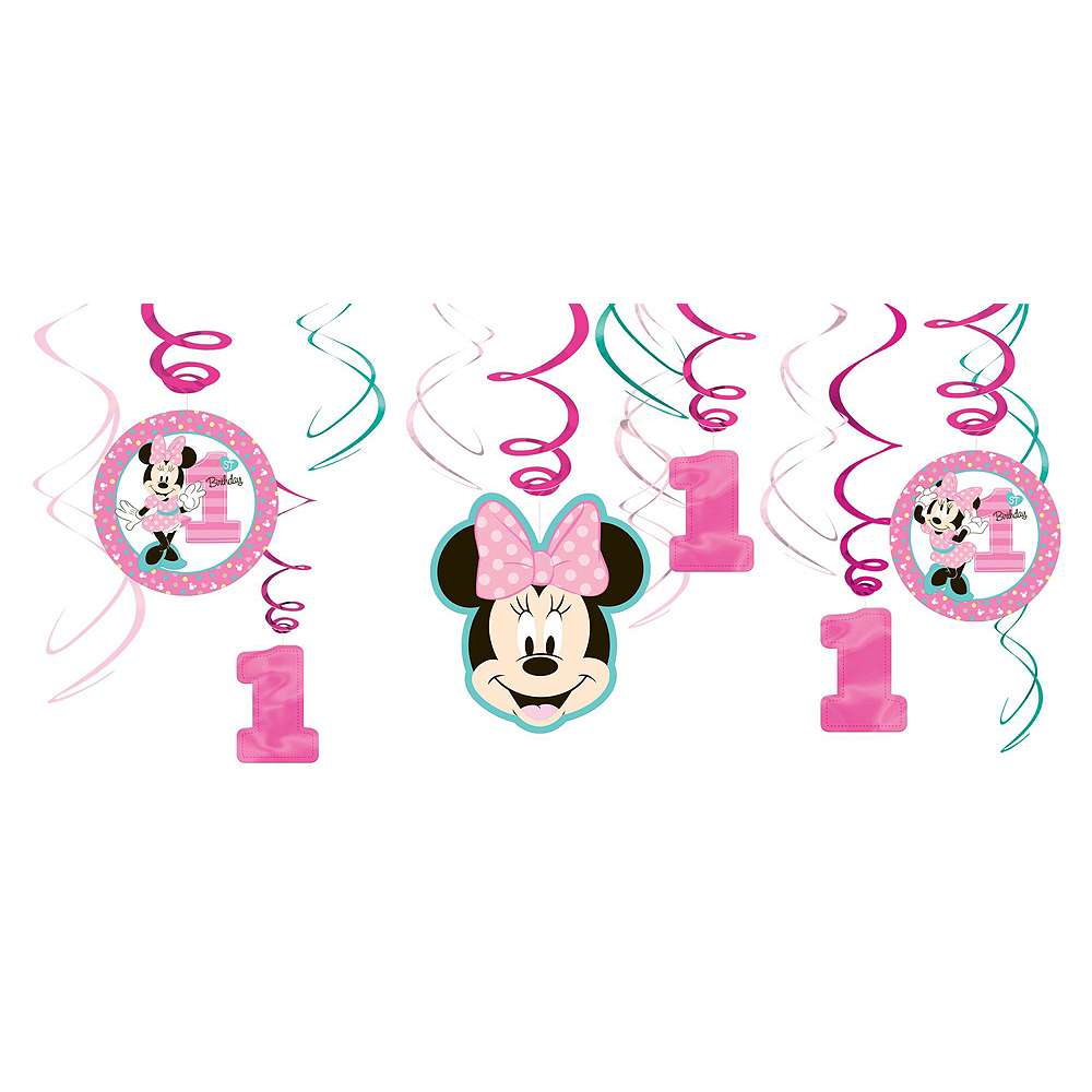 1st Birthday Minnie Mouse Decorating Kit Image #3