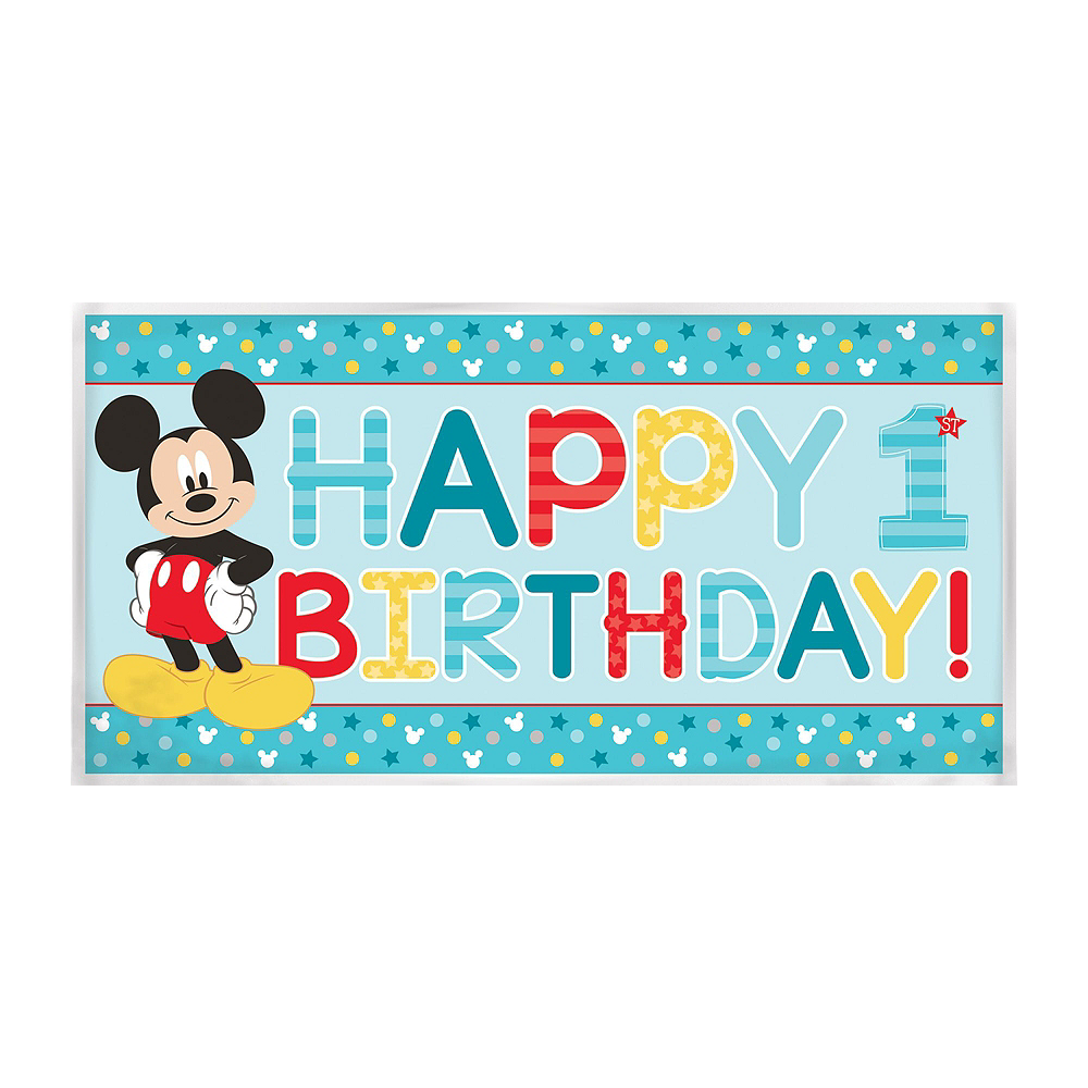 1st Birthday Mickey Mouse Decorating Kit Image #3