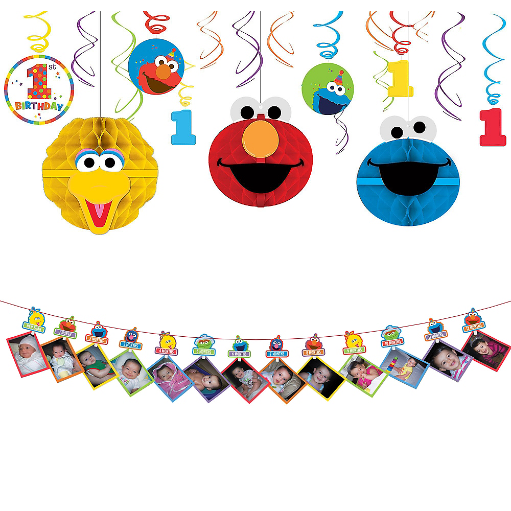 1st Birthday Elmo Decorating Kit Image 1