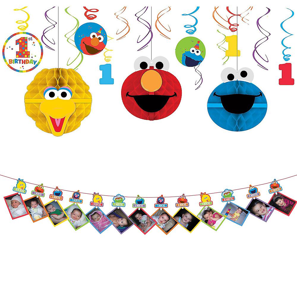 1st Birthday Elmo Decorating Kit Party City