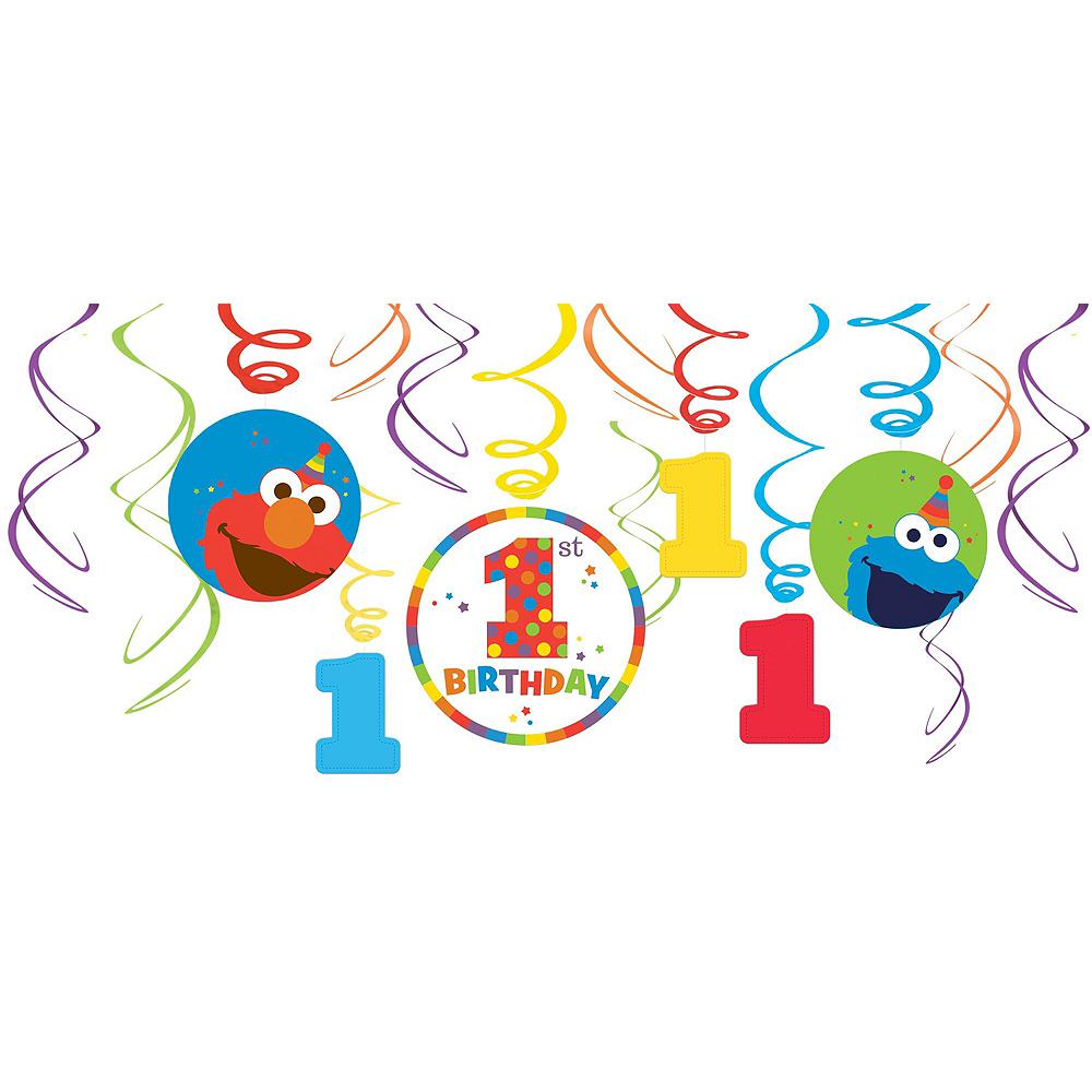 1st Birthday Elmo Decorating Kit Image #3