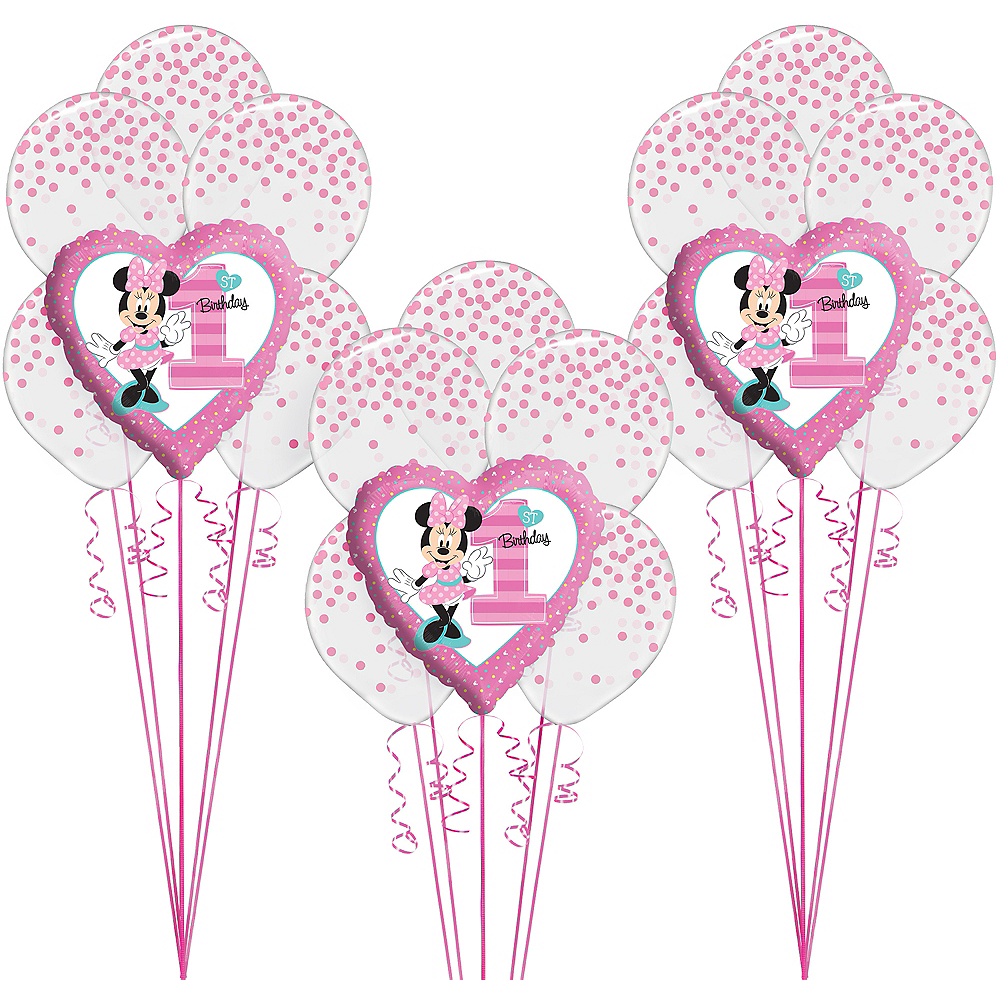 1st Birthday Minnie Mouse Balloon Kit Image #1