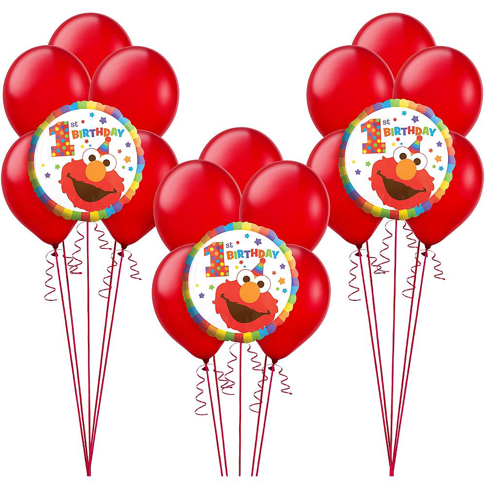 1st Birthday Elmo Balloon Kit Image #1