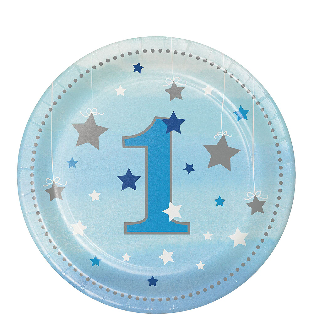 Blue Twinkle Twinkle Little Star 1st Birthday Party Kit for 32 Guests Image #2