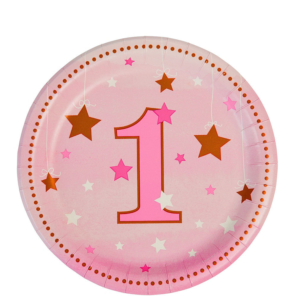 Pink Twinkle Twinkle Little Star 1st Birthday Party Kit for 16 Guests Image #2
