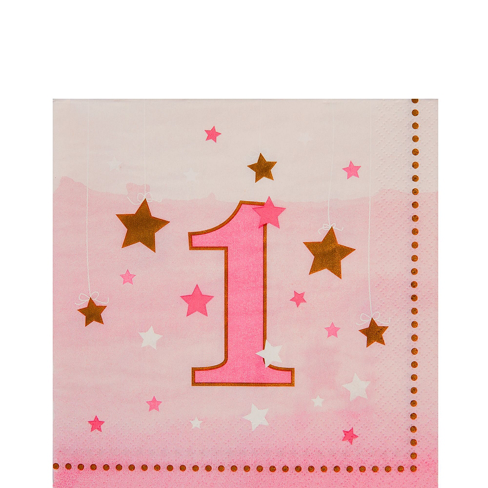 Pink Twinkle Twinkle Little Star 1st Birthday Party Kit for 16 Guests Image #4