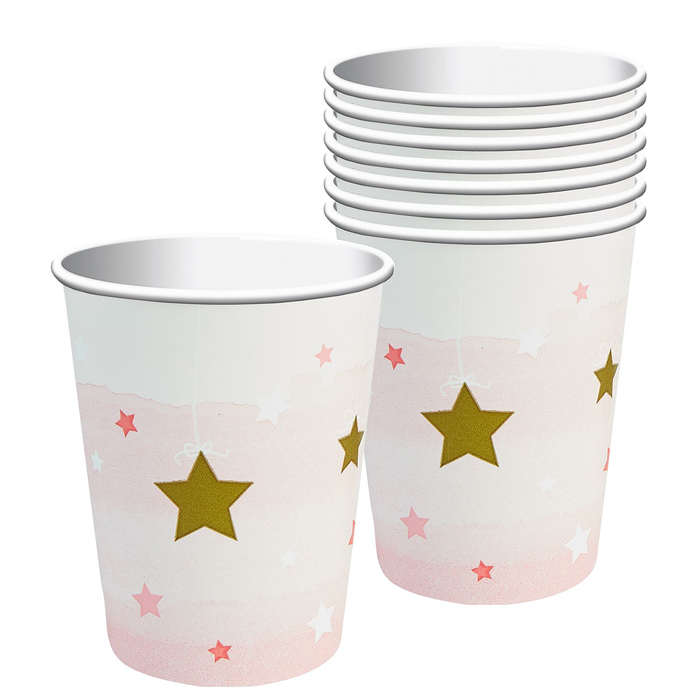 Pink Twinkle Twinkle Little Star 1st Birthday Party Kit for 16 Guests Image #6