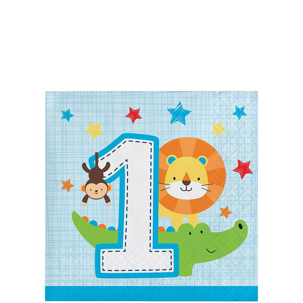 Blue One is Fun 1st Birthday Party Kit for 32 Guests Image #4