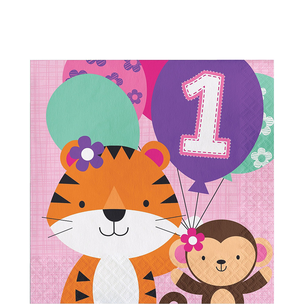 Pink One is Fun 1st Birthday Party Kit for 32 Guests Image #5