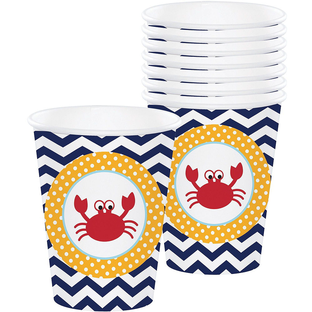 Ahoy Nautical 1st Birthday Party Kit for 32 Guests Image #2