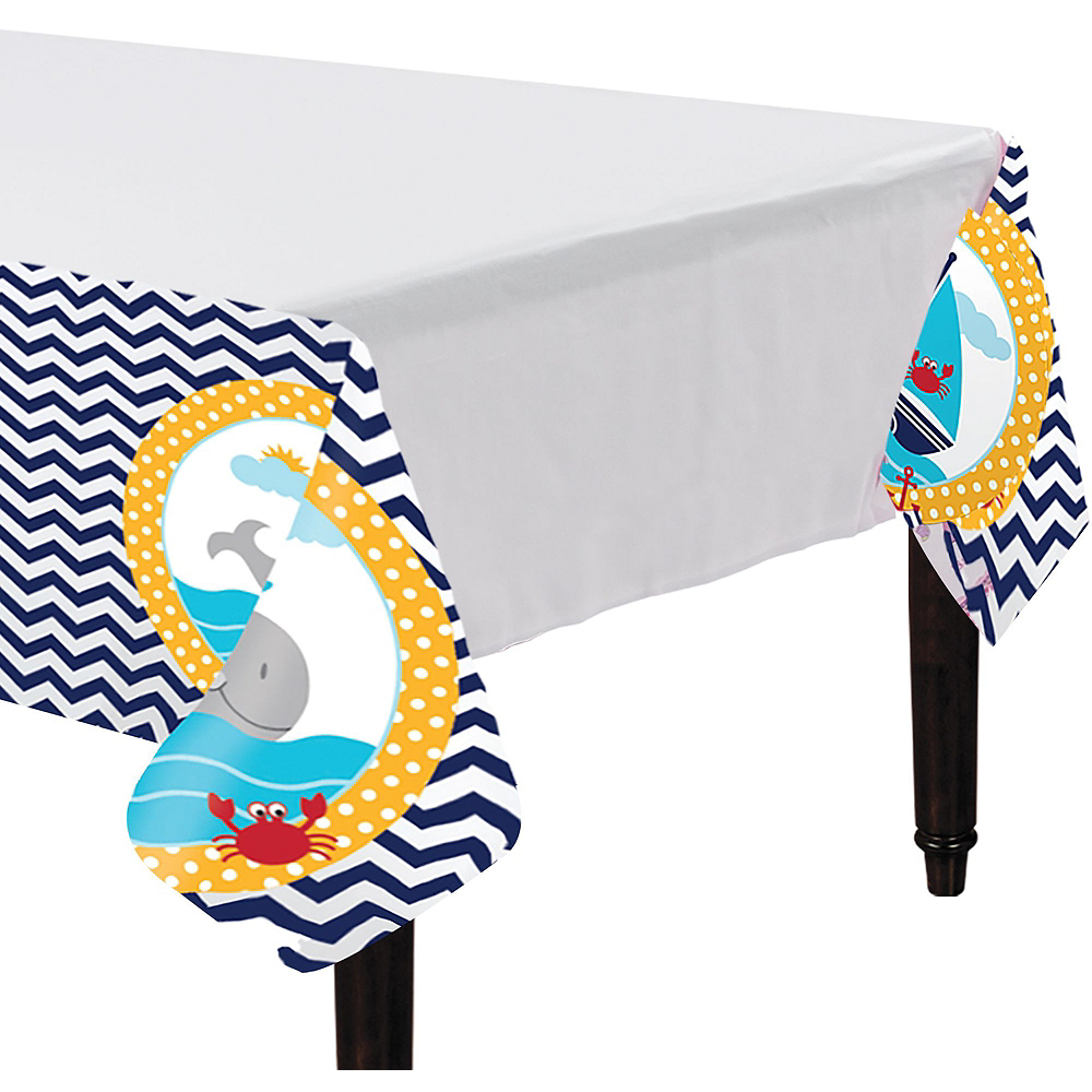 Ahoy Nautical 1st Birthday Party Kit for 32 Guests Image #3