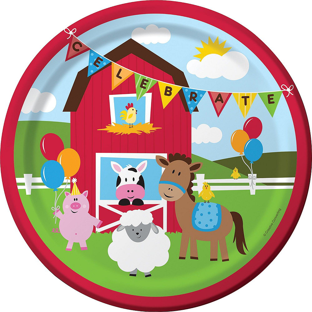 Farmhouse Fun 1st Birthday Deluxe Party Kit for 32 Guests Image #3