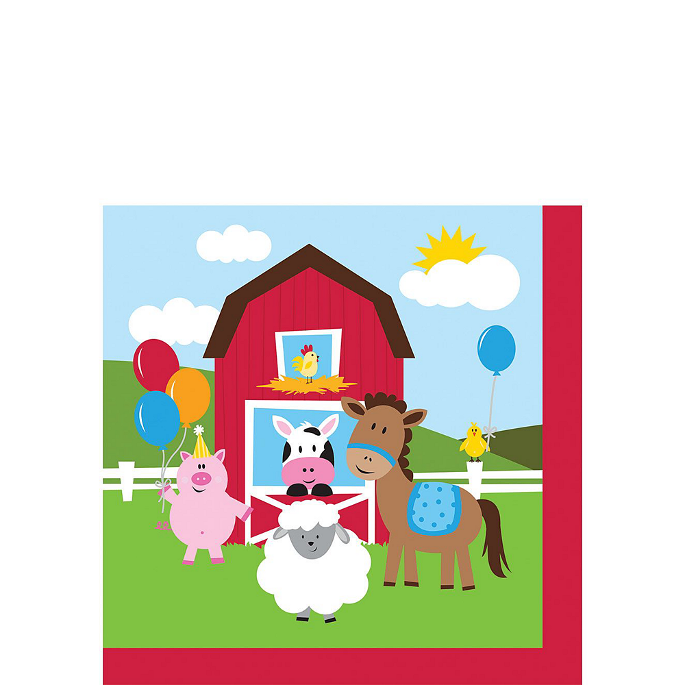 Farmhouse Fun 1st Birthday Deluxe Party Kit for 32 Guests Image #4