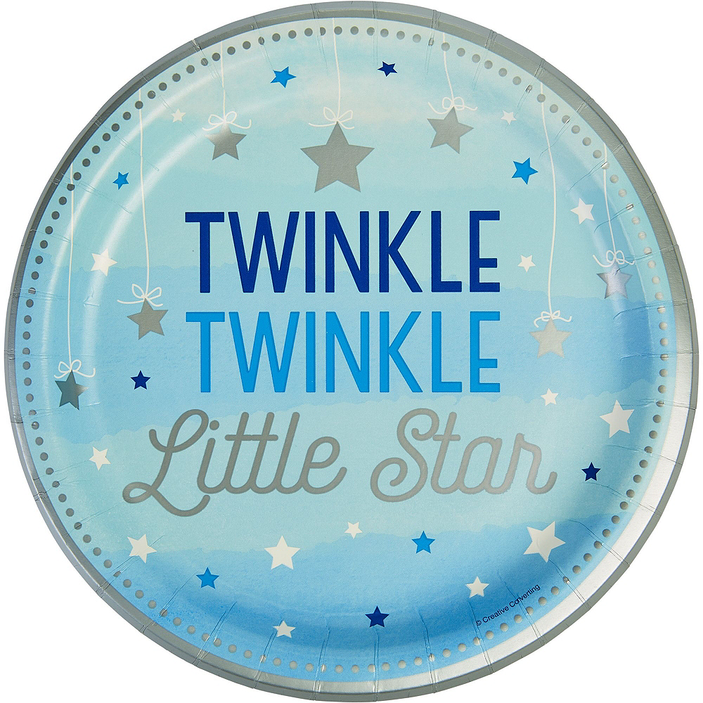 Blue Twinkle Twinkle Little Star 1st Birthday Deluxe Party Kit for 32 Guests Image #2