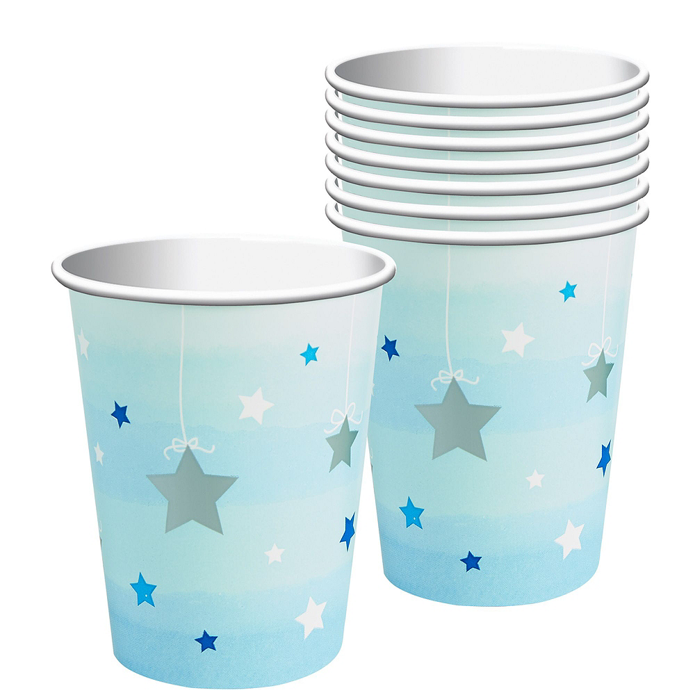 Blue Twinkle Twinkle Little Star 1st Birthday Deluxe Party Kit for 32 Guests Image #5