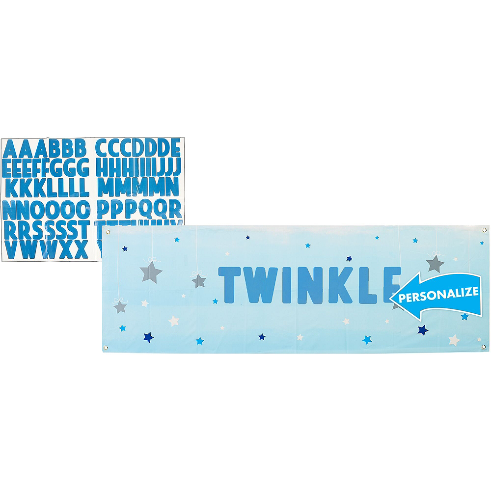 Blue Twinkle Twinkle Little Star 1st Birthday Deluxe Party Kit for 32 Guests Image #13