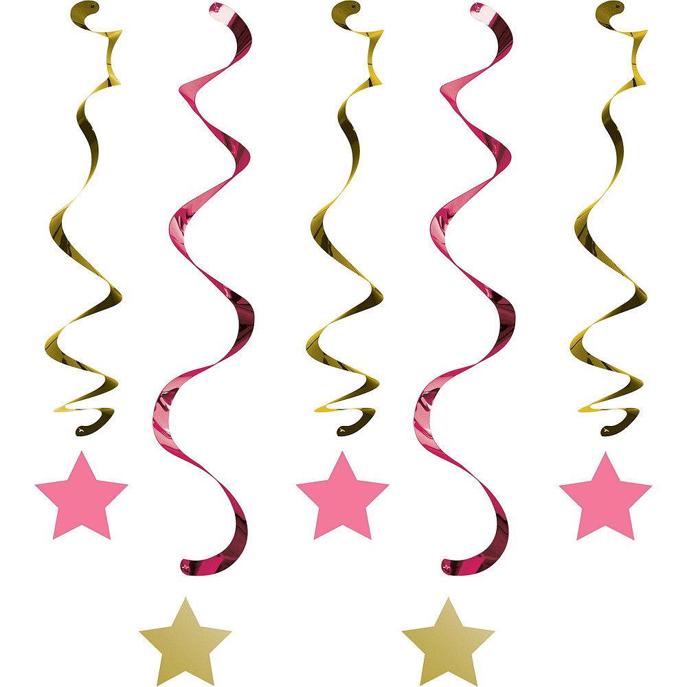 Pink Twinkle Twinkle Little Star 1st Birthday Deluxe Party Kit for 32 Guests Image #9