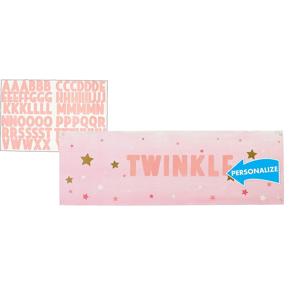 Pink Twinkle Twinkle Little Star 1st Birthday Deluxe Party Kit for 32 Guests Image #13
