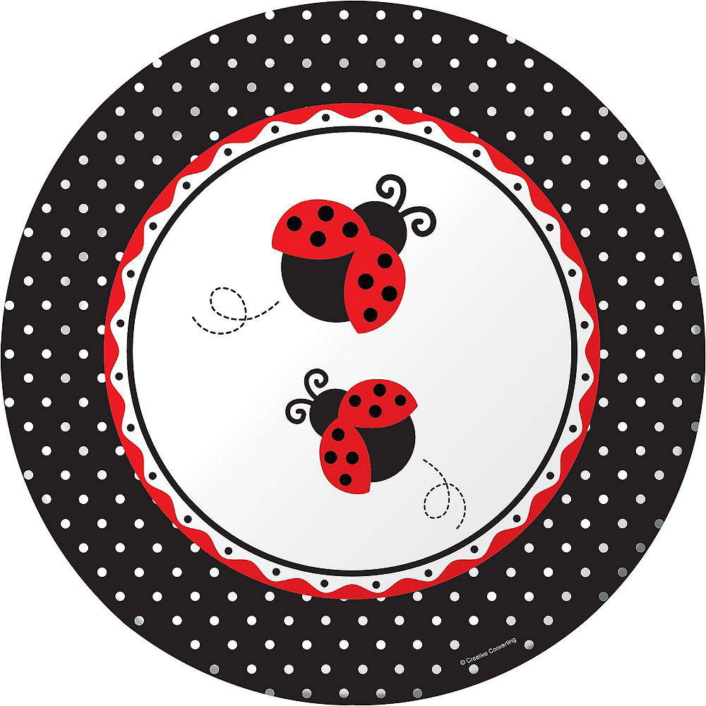 Fancy Ladybug 1st Birthday Deluxe Party Kit for 32 Guests Image #3