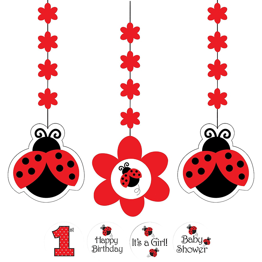 Fancy Ladybug 1st Birthday Deluxe Party Kit for 32 Guests Image #10