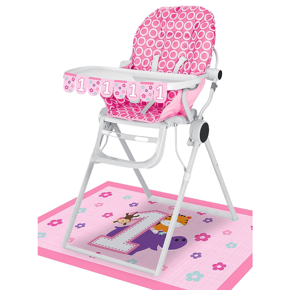 Pink One is Fun 1st Birthday Deluxe Party Kit for 32 Guests Image #15