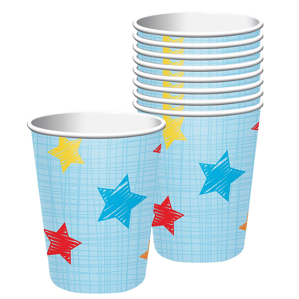 Blue One is Fun 1st Birthday Deluxe Party Kit for 32 Guests Image #6
