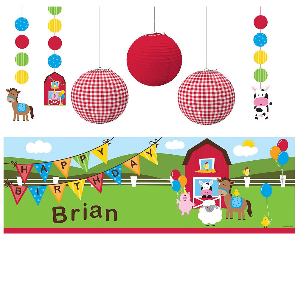 Farmhouse Fun 1st Birthday Decorating Kit Image #1