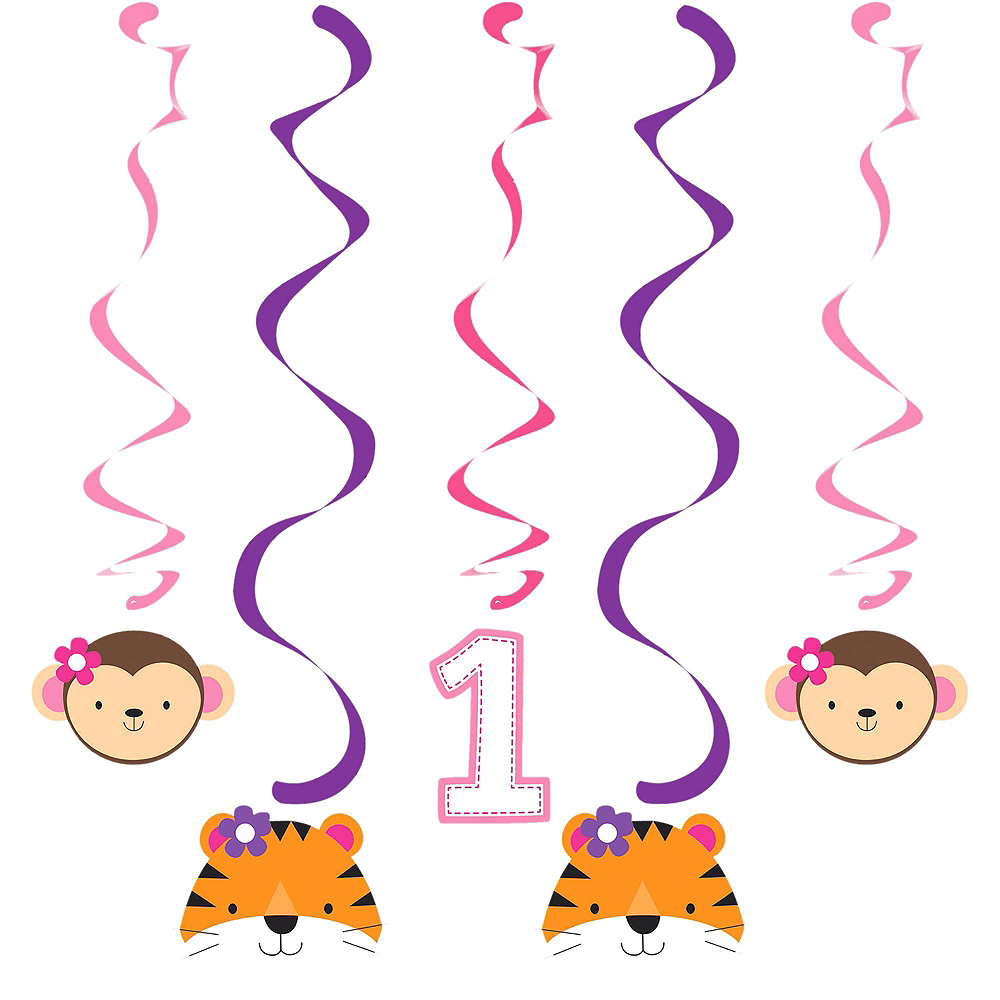 Pink One is Fun 1st Birthday Decorating Kit Image #2