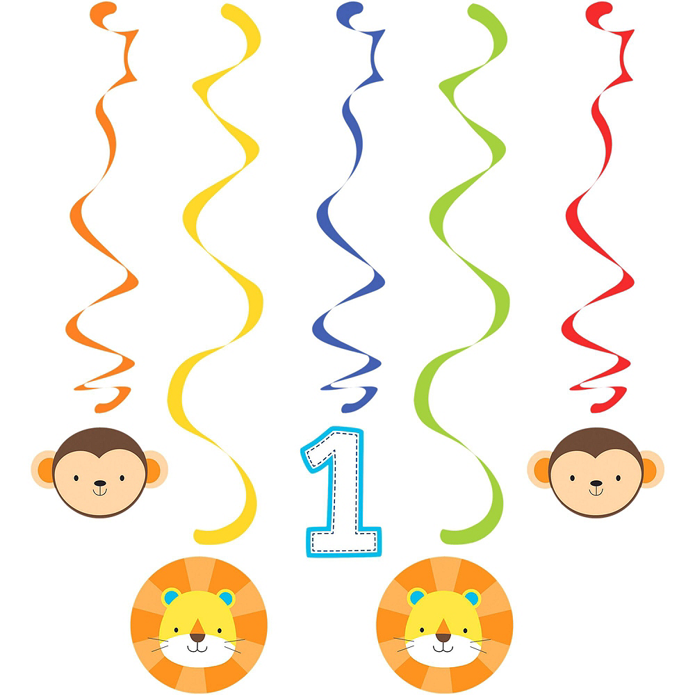 Blue One is Fun 1st Birthday Decorating Kit Image #2