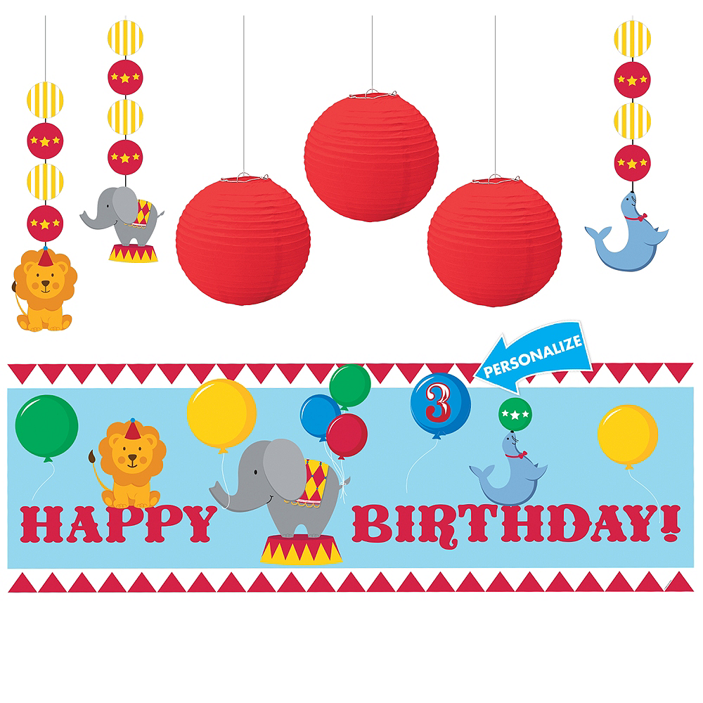 Carnival 1st Birthday Decorating Kit Image #1