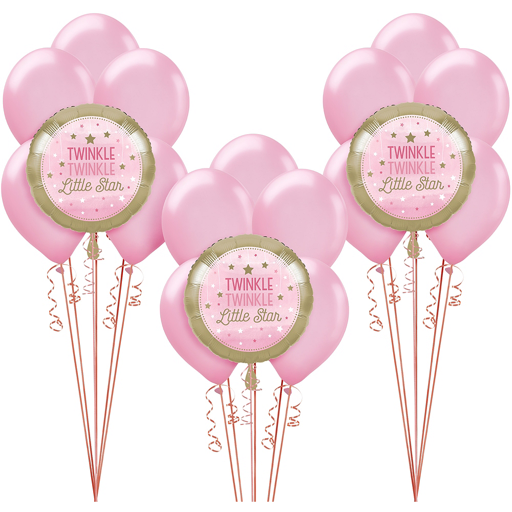 Pink Twinkle Twinkle Little Star Balloon Kit Image #1