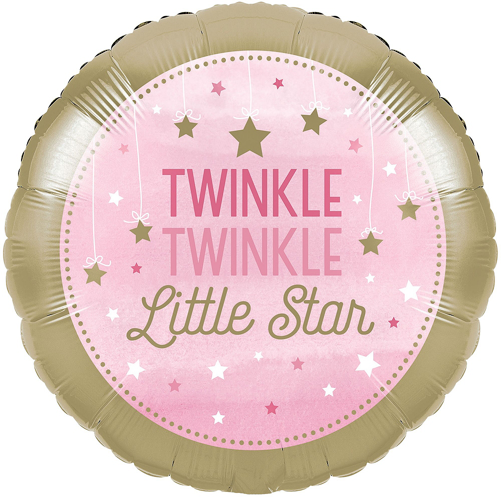 Pink Twinkle Twinkle Little Star Balloon Kit Image #2