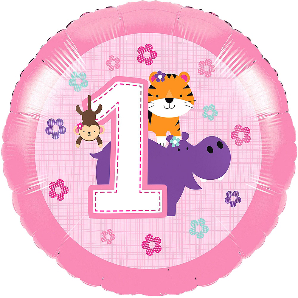 Nav Item for Pink One is Fun 1st Birthday Balloon Kit Image #2