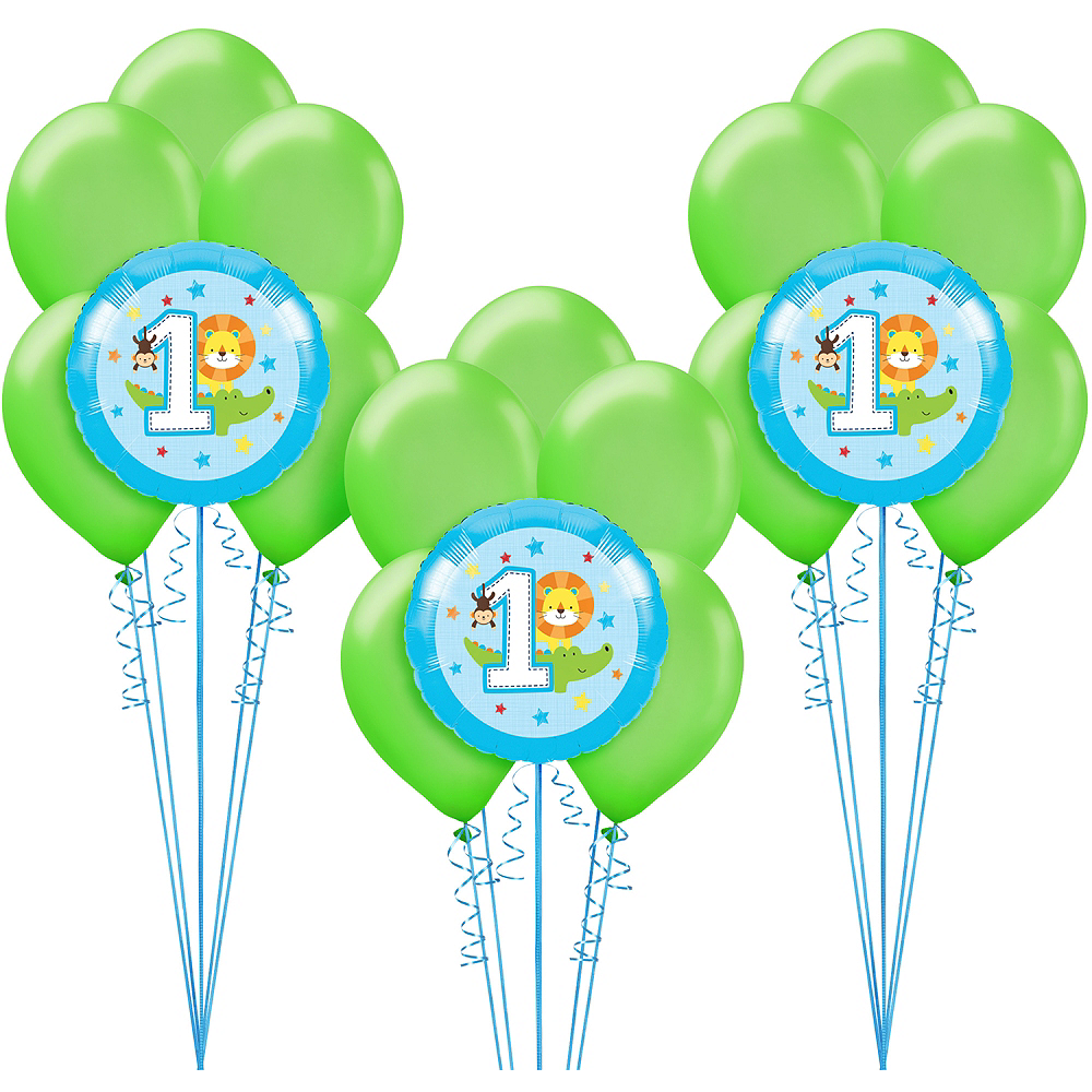 Blue One is Fun 1st Birthday Balloon Kit Image #1