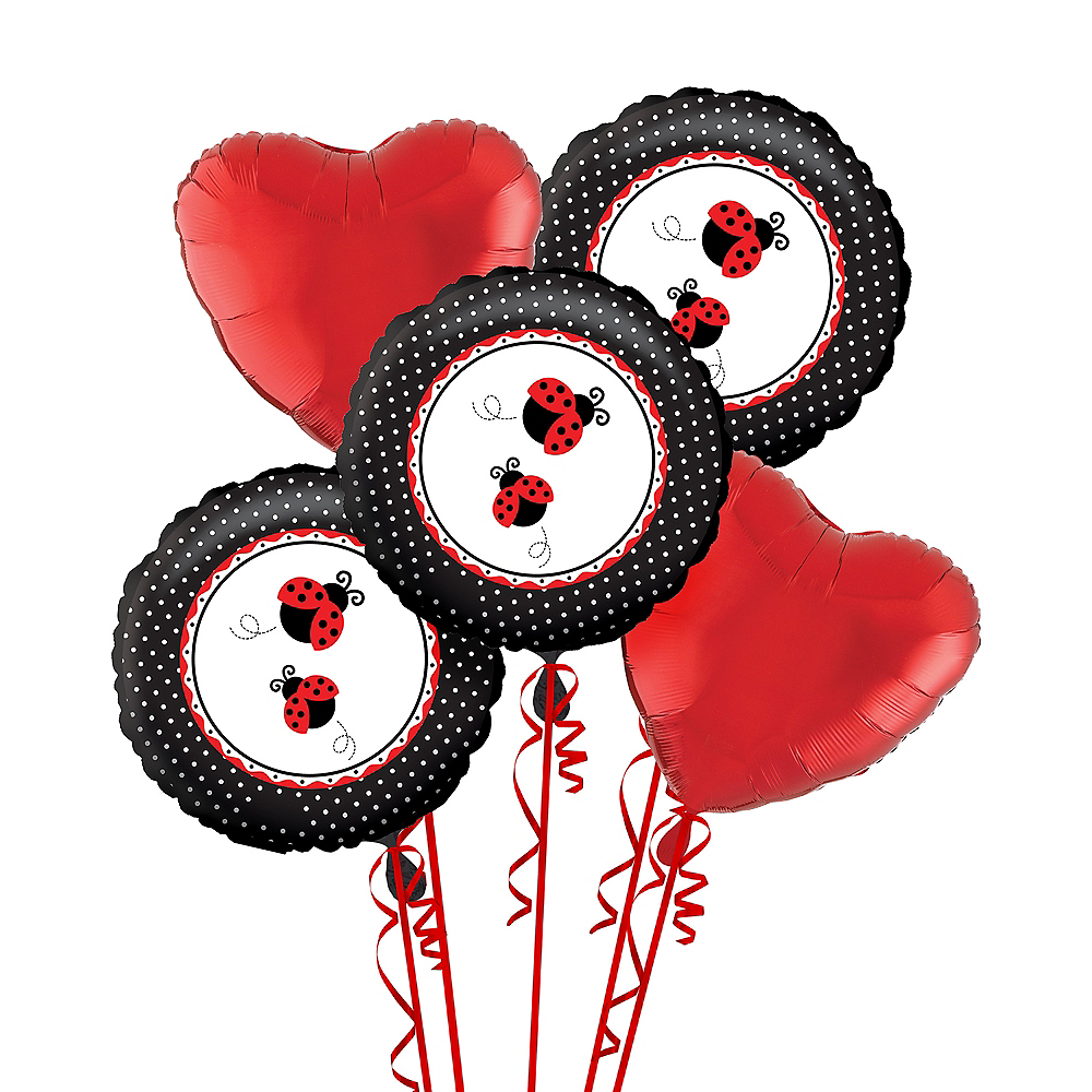 Fancy Ladybug 1st Birthday Balloon Bouquet Image #1