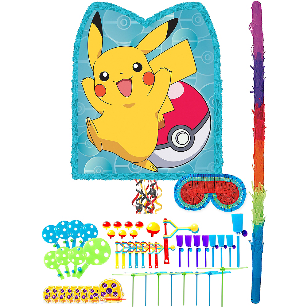 Pikachu Pinata Kit with Favors Image #1